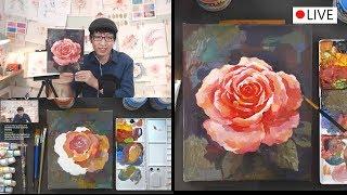 [Live] Acrylic Painting 아크릴 페인팅 Live 6/13