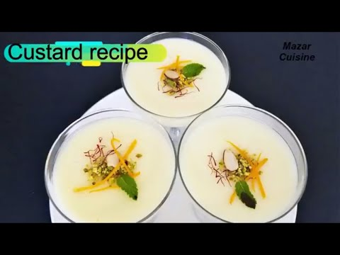 CUSTARD RECIPE, کسترد EASY DESSERT RECIPE AFGHAN FOOD RECIPE