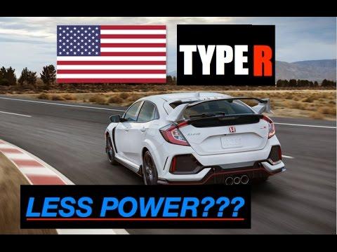 Why 2018 Honda Civic Type R has Less Power in America - Inside Lane