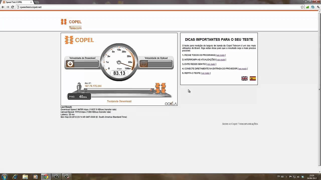 speedtest copel net