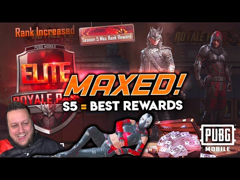 MAXED SEASON 5 ELITE ROYALE PASS - Best Rewards Yet? PUBG Mobile