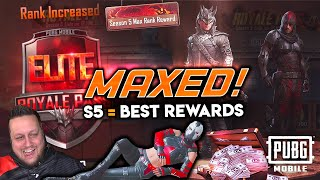 MAXED SEASON 5 ELITE ROYALE PASS - Best Rewards Yet? PUBG Mobi…