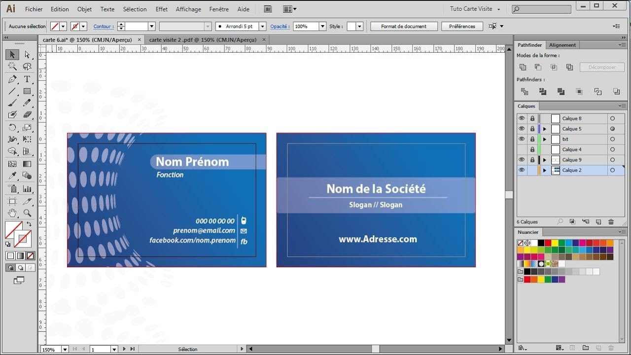 Comment Faire Un Carte De Visite Avec Word
