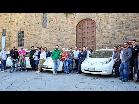 Florence gets a new fleet of all-electric Nissan Leaf taxis