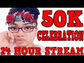 COUNTDOWN TO 50K!! | 24 HOUR LIVE STREAM !!! COME GET LIT !!!!