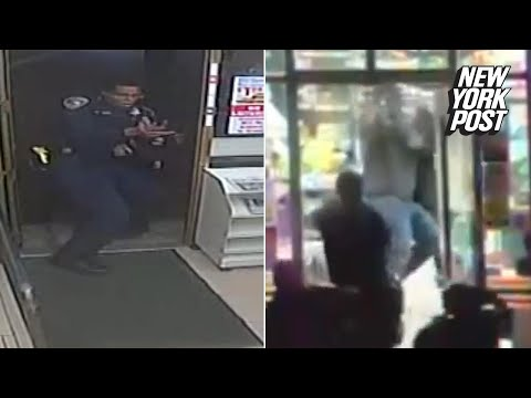 Police shootout in a 7-Eleven ends with suspects fleeing | New York Post