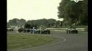 Caterham crash at Castle Combe
