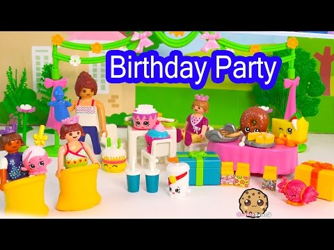 Playmobil Children's Happy Birthday Party Playset with Shopkins Season 1 & 3 Friends - Video