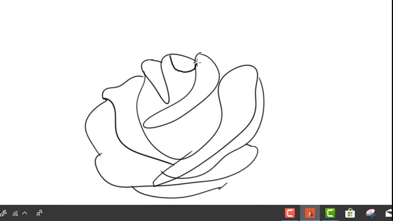 تعلم رسم وردة بطريقة سهلة وبسيطة كيف ترسم وردة بالخطوات Youtube