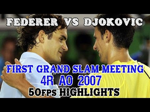 Federer v Djokovic ● 4R Australian Open 2007 50fps Highlights