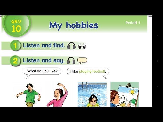 Unit 10 My Hobbies نتعلم كيف نهجي ونكتب كلمات