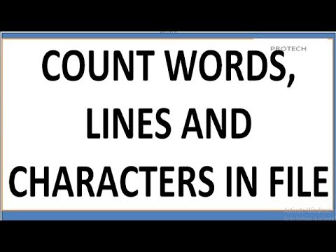 Program to count Number of characters, words and lines in a text file in c