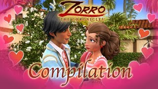 Joyeuse Saint Valentin! Carmen ❤️ Diego   Compilation  les Chroniques De Zorro   Dessin 2019