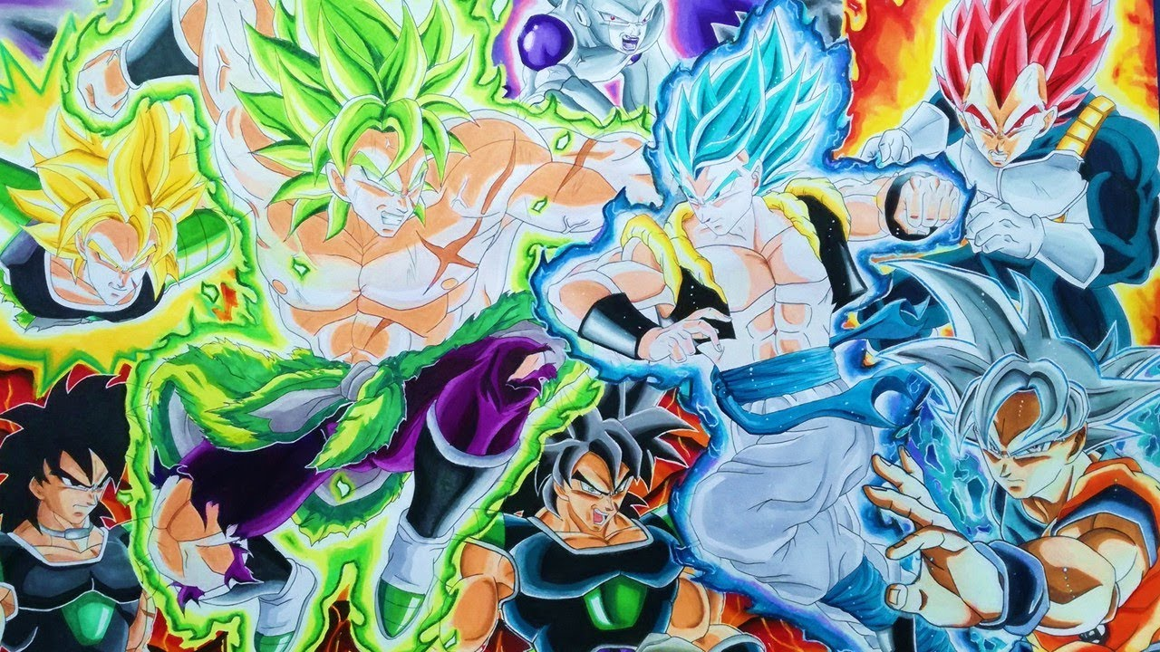 Cómo Dibujar A Gogeta Ssj Blue Película Dragon Ball Super Broly Batalla Final Parte 1