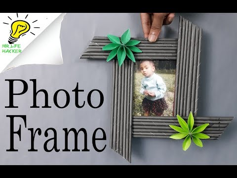 Awesome Photo Frame Out Of Paper Sticks  Diy Paper Crafts