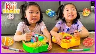Easter Eggs Coloring and Painting Spinner Decoration Challenge!!!