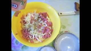 Салат из свежей капусты. Аппетитный салат
