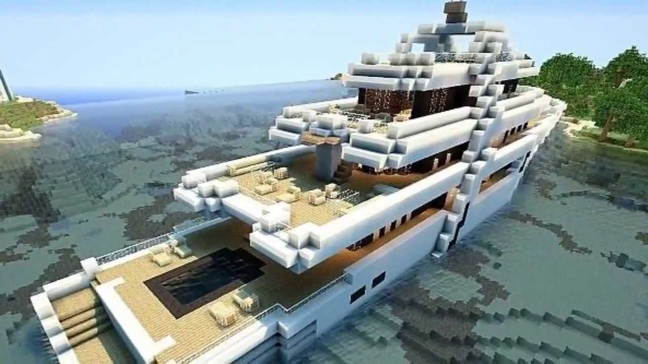 minecraft top 5 des plus beaux yachts youtube. Black Bedroom Furniture Sets. Home Design Ideas