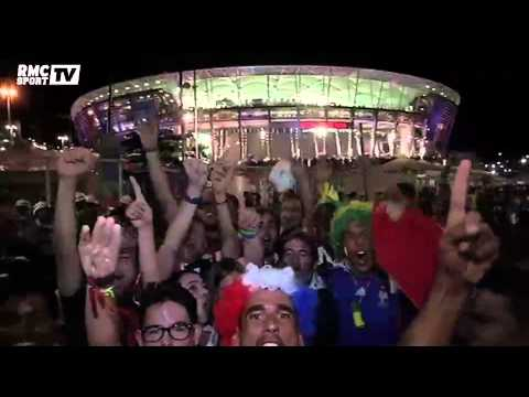 Football / Joie des supporters tricolores au Brésil - 20/06