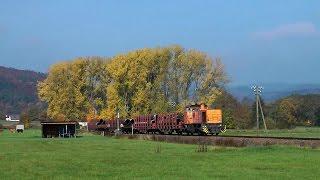 Umgeleiteter Güterzug auf der Oberen Lahntalbahn (Erndtebrück - Sarnau)
