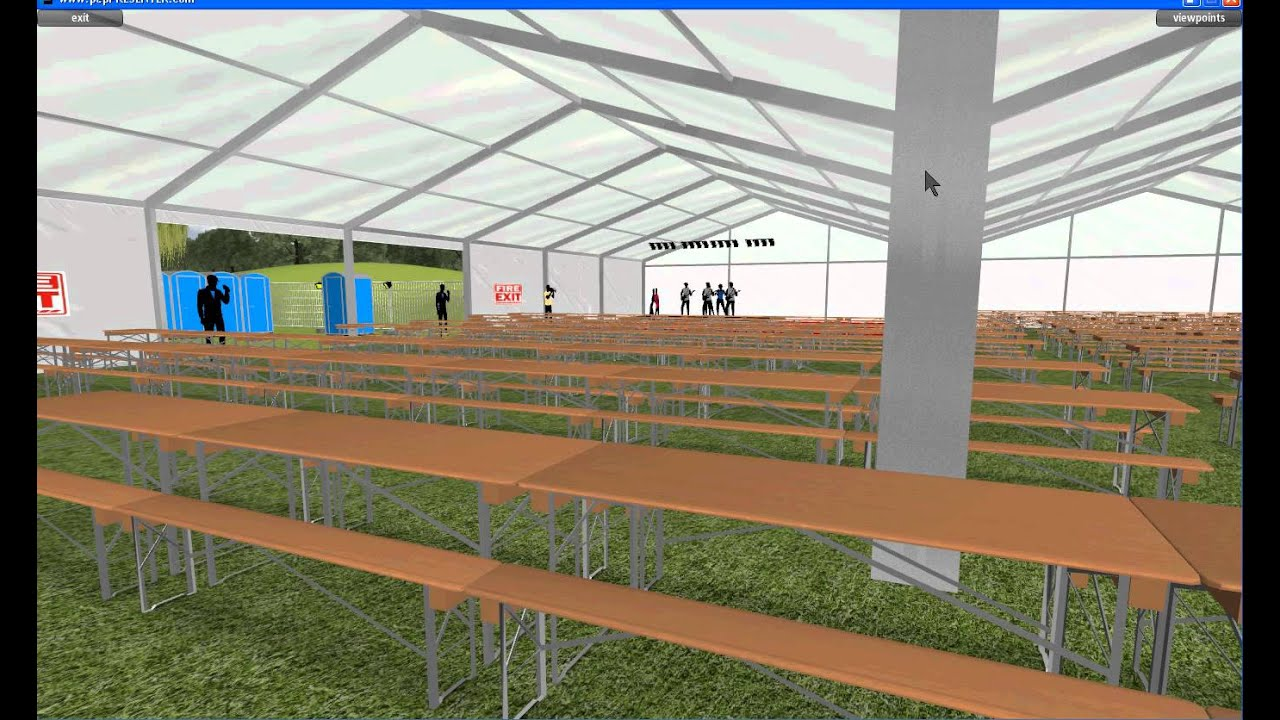 Beer Festival 3d Virtual Tour Event Mockup Using Cad
