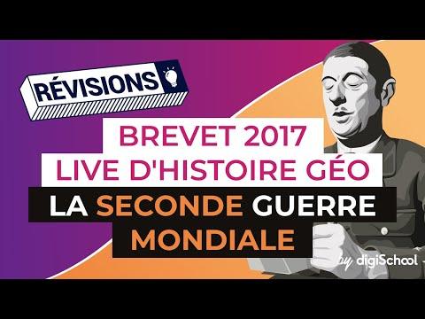 Brevet 2017 - Révisions live Histoire Géo : La Seconde Guerre Mondiale - digiSchool