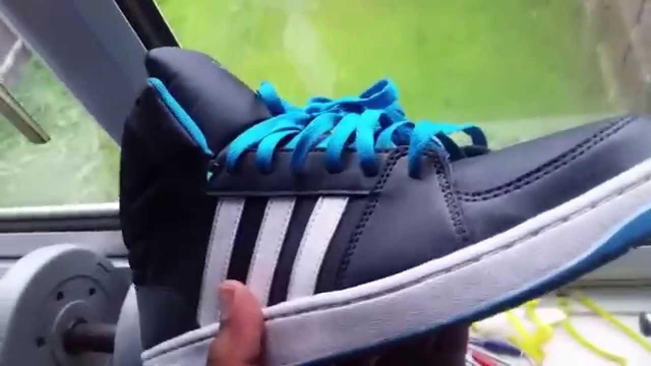 brand new d0341 4b916 REVIEW  Navy Adidas NEO hightops - YouTube