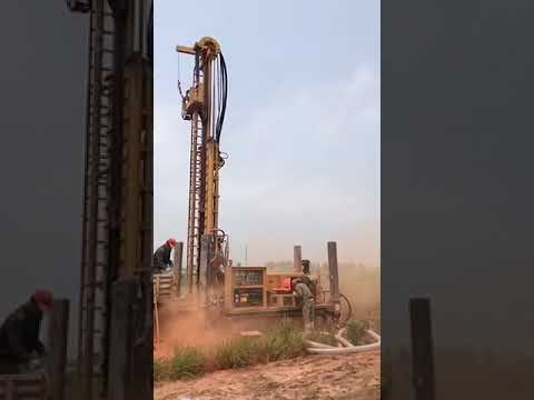 HFX400 water well drilling rig at work site