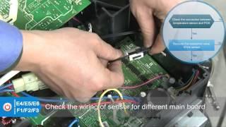 2014海外视频 分体变频维修视频片段 e4 e5 e6 f1 f2 f3