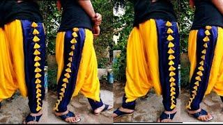 double colour side dot salwar #Designersalwar #selfdesignedsalwar #doublefabricwar #PatiyalaSalwar