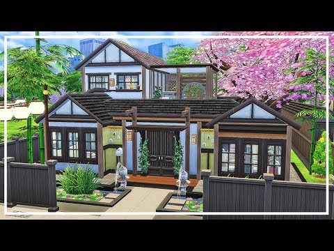 Japanese house sims 4 speed build download youtube for Asian houses photos