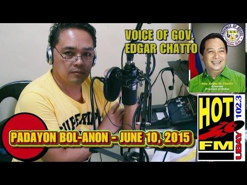 102.3 HOT FM UBAY - PADAYON BOL-ANON - JUNE 10, 2015