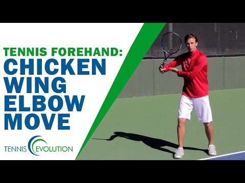 TENNIS FOREHAND | Chicken Wing Elbow Move In Tennis