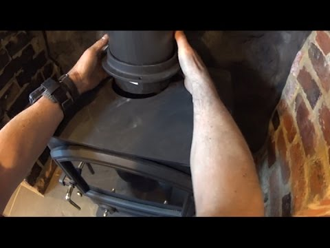 Wood burning stove installation, detailed How to.