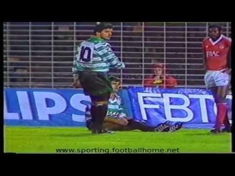Benfica - 0 x Sporting - 2 de 1989/1990 1/2 Final Torneio Philips Cidade Lisboa (02-01-1990)
