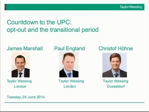 Countdown to the UPC: opt-out and the transitional period
