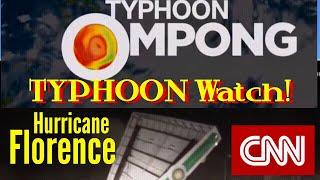 Typhoon OMPONG Latest update! Hurricane Florence Landfall In North Carolina! Sept.14, 2018