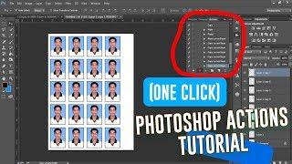 Wie Erstellen Passfoto in (mit Einem Klick) | Tutorial Photoshop-Aktionen | Photoshop-Bangla #02