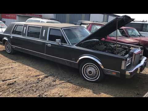 86 Lincoln Town Car Limo Sold For Scrap