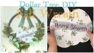 DOLLAR TREE DIY FARMHOUSE FALL PUMPKIN WREATH |Hula Hoop & Burlap Wreath