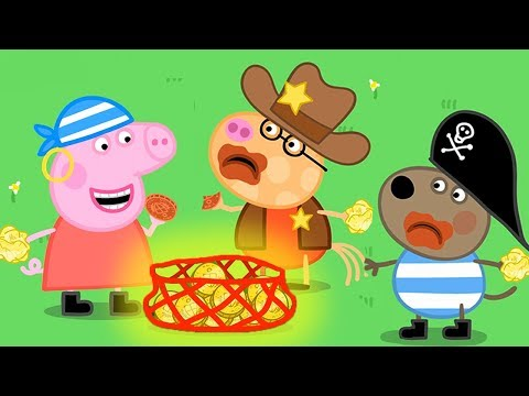 Peppa Pig Full Episodes | Halloween Special 🎃 - Pirate Party | Cartoons for Children