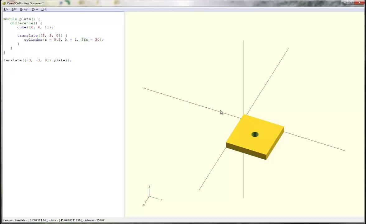 OpenSCAD Tutorial & Cheat Sheet | 3D Printing Blog | i