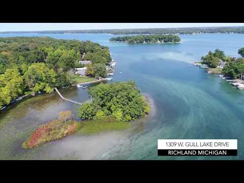 GULL LAKE ISLAND HOUSE| 1309 W. Gull Lake Dr, Richland, MI |  360 Degrees of AMAZING!