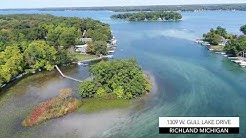 GULL LAKE ISLAND HOUSE| 1309 W. Gull Lake Dr, Richland, MI |  360 Degrees of AMAZING!
