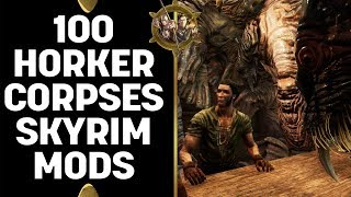 Skyrim Special Edition Mods - Cam And Seb Return With 100 Horker Corpses!