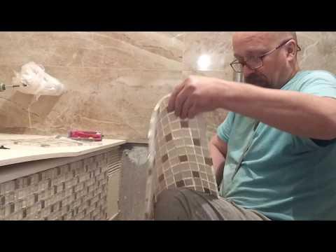 Как оформить фасад ванны  и как сделать нишу для ног