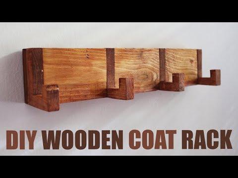 DIY Wooden Coat Rack - Coat Rack Wall Mounted