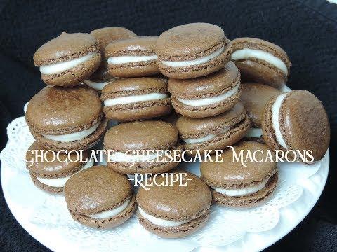 Chocolate Cheesecake French Macarons -Recipe- (Cookie Series #5) | Ep #120