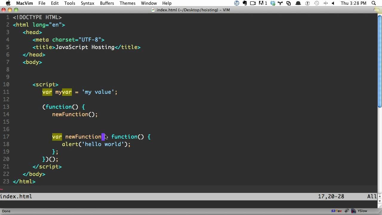 JavaScript Hoisting Explained - YouTube