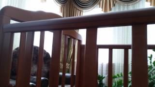 оНЛАЙН ТРЕЙД.РУ Кроватка СКВ Компани Березка 17400 поперечный маятник, цвет Бук